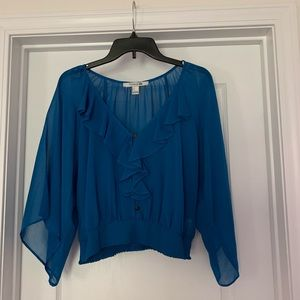 Forever 21 Blue Blouse Size:S.